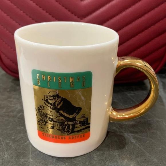 Starbucks Christmas Coffee.Vintage Starbucks Christmas Coffee Cup